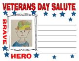 Veterans day salute blank memorial day art craft kids writing prompt