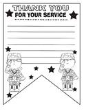 Veterans memorial day art activity banner pennant kids thank you letter