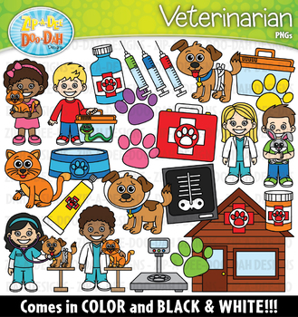 Veterinarian Community Helpers Clipart {Zip-A-Dee-Doo-Dah Designs}