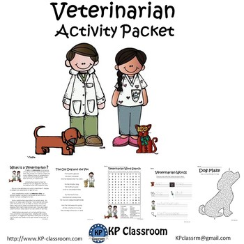 Veterinarian No Prep Activity Packet and Worksheets