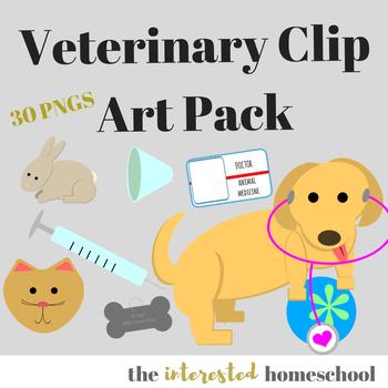 Veterinarian Themed Clip Art Pack
