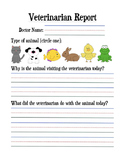 Veterinarian Writing Center/Activity & Vocabulary List