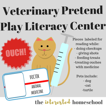 Veterinarian Clinic Dramatic Play Kit - Plus Literacy Component