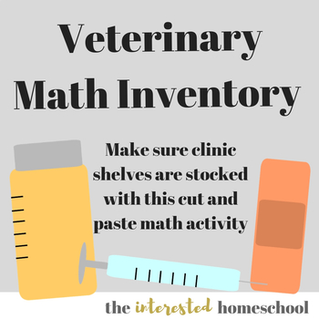Veterinary Clinic Inventory Math Worksheets