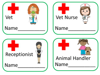 Veterinary Clinic Role Play Area   -  25 Fun Vet Printables