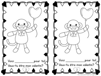 Le Jour de Saint Valentin:  Valentine Themed Emergent Reader in French