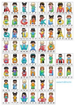 Vi sorterer 1: Alfabetet - store og små bokstaver [BM&NN]