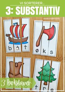 Vi sorterer 3: Substantiv med 3 bokstaver [BM&NN]