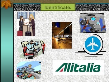 Viaggiare dall'aeroplano (Travel by airplane in Italian) power point