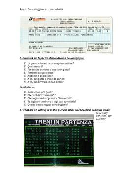 Viaggiare in Treno - Train Travel and Train Tickets Italian