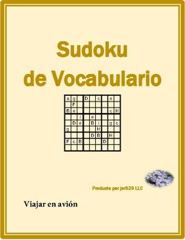 Viajar en avión (Plane travel in Spanish) Sudoku