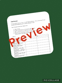 Spanish Plan a Trip Project and Rubric (Viaje Proyecto)