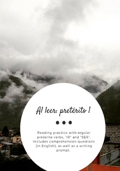 "Viaje a Baños - Preterite 1 Reading Practice: Regular Verbs, ""IR"" and ""SER"""