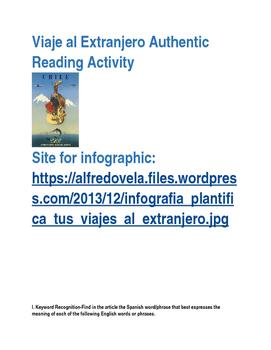 Viaje al extranjero Authentic IPA Reading activity