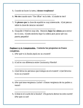 Viaje de su Vida- Chapter One worksheets (differentiated) and Bingo Card
