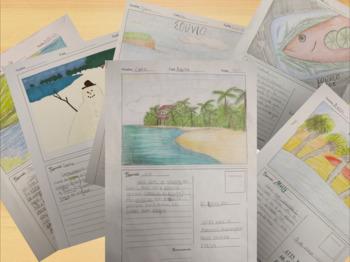 Viaje de un Ano - A Postcard Writing Project