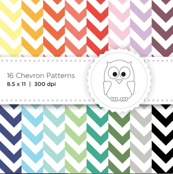 Vibrant Chevron Digital Papers