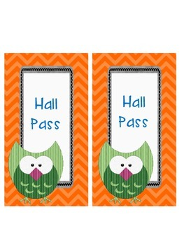 Vibrant Chevrons & Adorable Owls Passes (Girl & Boy Bathroom, Hall, & Nurse