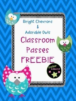 Vibrant Chevrons & Adorable Owls Passes (Girl & Boy Bathro