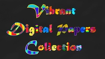 Vibrant Digital Papers Collection