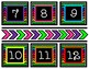 Vibrant Numbers with Chrevron Background
