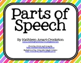 Vibrant Parts of Speech Posters
