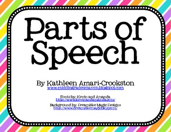 Lory's 2nd Grade Skills: ELA Posters - Parts of Speech