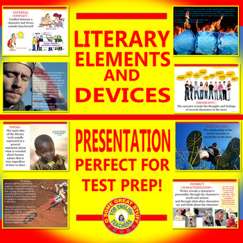 Literary Elements and Devices Perfect Test Prep Vibrant Powerpoint