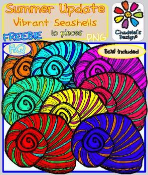Vibrant Seashells FREEBIE Clips