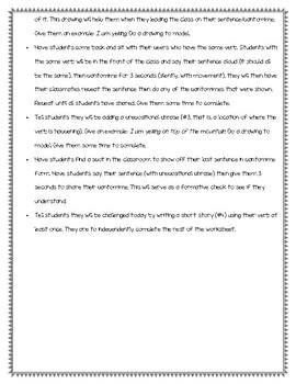 Vibrant Verbs Lesson Plan & Worksheet