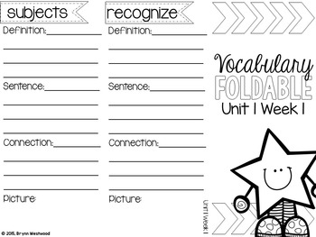 Vibrant Vocabulary ALL YEAR BUNDLE Activities with words from WONDERS