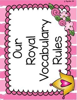 Vibrant Vocabulary Starter Set--Fancy Nancy Book Companion Activites {FREEBIE}