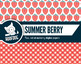 Vibrant red strawberry digital papers summer berry fruit patterns