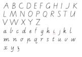 Vic Cursive Alphabet