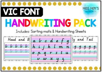 Vic Cursive Handwriting Pack