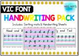 Victorian Cursive Handwriting Pack - includes editable version