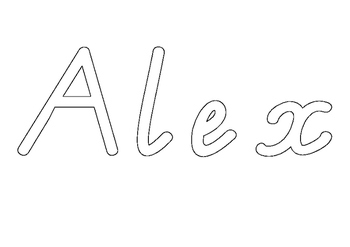 Victorian Modern Cursive name practise - Alex