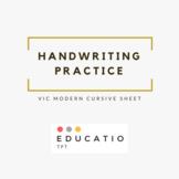 Vic Modern Cursive Alphabet Tracing Sheet (Freebie)