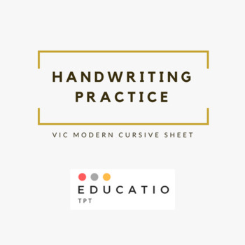 Vic Modern Cursive Alphabet Tracing Sheet (Freebie)