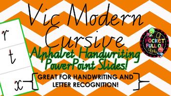 Vic Modern Cursive Alphabet Handwriting Powerpoint Show