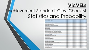 VicVELS Statistics and Probability Achievement Standards Class Checklist