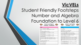 VicVELs Child Friendly Number and Algebra Footsteps Foundation to Level 6