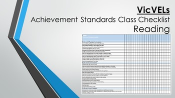 VicVELs Reading Achievement Standards Class Checklist