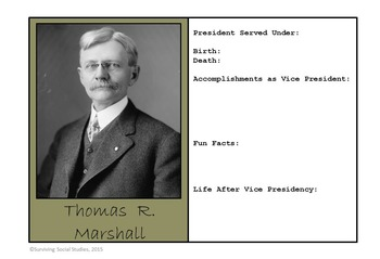 Vice Presidents of the United States - 48 Trading Cards to be Made