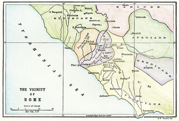 Vicinity of Rome Map