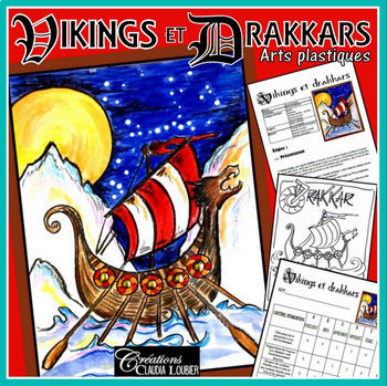 Arts plastiques: Viking et drakkars, hiver, plan de cours en français