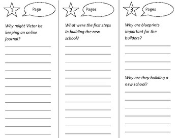 Victor's Journal Trifold - Open Court 2nd Grade Unit 3 Lesson 3
