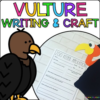 Victor the Vulture { Animal Craftivity and Writing Prompts! }