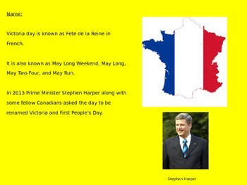 Victoria Day - Canada Power Point  - History Facts Events Information