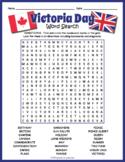 Victoria Day Word Search Puzzle